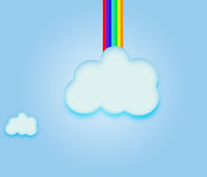 Sky Clouds  Rainbow. Stock Photography