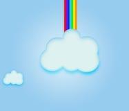 Sky Clouds  Rainbow. Stock Photography