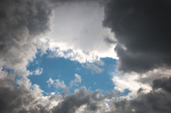 The sky with clouds that are ready to fall Stock Photo