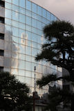 The sky and clouds are reflected on the facade of a building (Japan) Royalty Free Stock Images