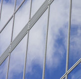 Sky and clouds reflection. On a building windows Stock Photo