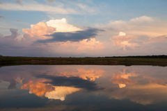 Sky and clouds reflection on Lake Royalty Free Stock Photos