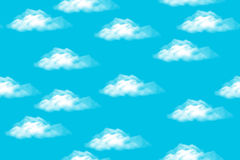 Sky with Clouds, Seamless Royalty Free Stock Photo