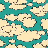 Sky and clouds seamless pattern background Stock Photo