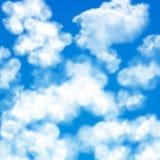 Sky clouds seamless pattern stock illustration