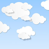 The sky and clouds. Clouds with shadow. Abstract illustration. Background Royalty Free Stock Photo