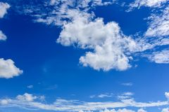 Sky with Clouds. Sky cloud, beautiful clouds in the blue sky Royalty Free Stock Image