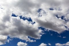 Sky with clouds. Background. Natural Royalty Free Stock Photo