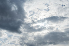 Sky clouds, sky with clouds and sun Royalty Free Stock Photography