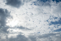 Sky clouds, sky with clouds and sun Royalty Free Stock Image