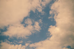 Sky clouds, sky with clouds and sun. Toned Royalty Free Stock Photography