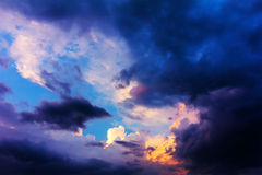Sky with clouds before the storm Royalty Free Stock Photo