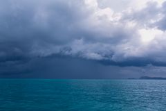 Sky with clouds before a storm. Amazing sky with clouds before a storm on the Andaman Sea Stock Photo