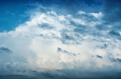 Sky with clouds before the storm - nature backgrou Stock Images