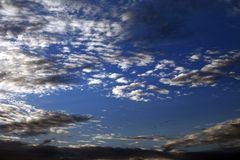 Sky with clouds at summer evening Stock Photography