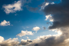 Sky with clouds and sun Royalty Free Stock Image
