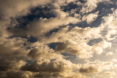 Sky with clouds and sun Royalty Free Stock Photo