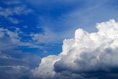 Sky with clouds and sun, Cumulus sunset clouds with sun setting Royalty Free Stock Photo
