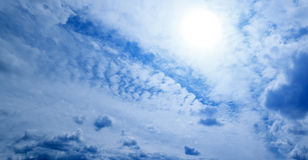 Sky clouds sun Royalty Free Stock Photos