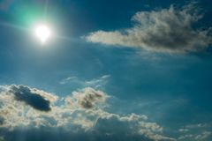 Sky clouds,sky with clouds and sun Royalty Free Stock Images