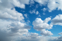 Sky clouds sun spring horizontal background royalty free stock image