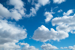 Sky clouds sun spring horizontal background Stock Photos