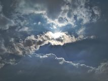 Sky clouds sun sunlight sunrays contrasts suncontrasts suncrystals Royalty Free Stock Photos