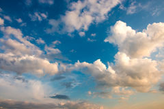Sky with clouds at the sundown Royalty Free Stock Photography