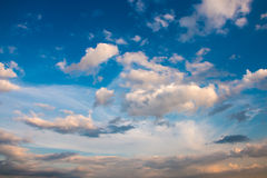 Sky with clouds at the sundown Royalty Free Stock Photo