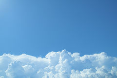 Sky with clouds and sunlight. Blue sky with clouds and sunlight Royalty Free Stock Images