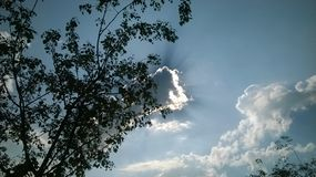 Sky clouds sunlight. Sky cloud sun light Royalty Free Stock Image