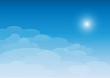 Sky with clouds on a sunny day. Blue sky with clouds on a sunny day Royalty Free Stock Photography