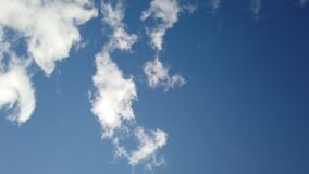 Sky clouds sunny day rotation background