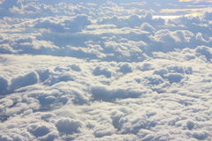 Sky with clouds. Sunny sky with many clouds Royalty Free Stock Image