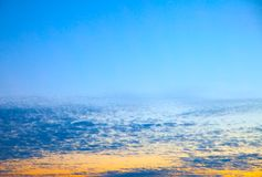 Sky with clouds before sunrise. May be used as background Royalty Free Stock Photography
