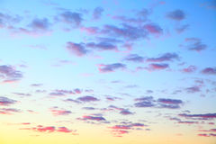Sky with clouds before sunrise Stock Image