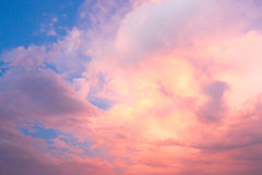 Sky with clouds and sunset Stock Images