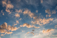 Sky clouds sunset Royalty Free Stock Images