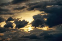 Sky with clouds at sunset Stock Photography