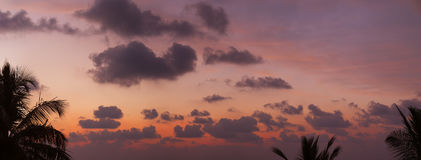 Sky with clouds at sunset Royalty Free Stock Image