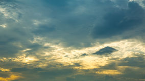 Sky with Clouds at Sunset or Sunrise Background, HDR Royalty Free Stock Photography