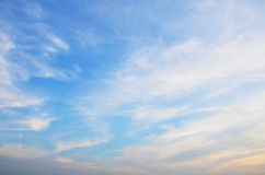 Sky and Clouds in sunset Time at Nonthaburi, Thailand Royalty Free Stock Photo