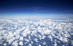Sky and clouds taken from airplane Royalty Free Stock Images