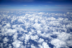 Sky and clouds taken from airplane Royalty Free Stock Photo