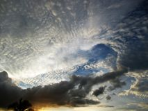 Sky and clouds at Thailand Royalty Free Stock Photo