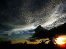 Sky and clouds at Thailand Stock Image
