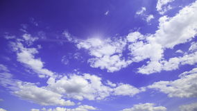 Sky with clouds (time lapse) stock video footage