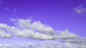 Sky with clouds (time lapse) stock footage