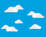 Sky And Clouds. Vector Stock Image