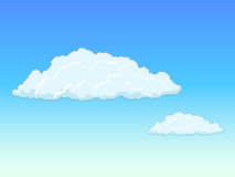 Sky with clouds vector illustration Royalty Free Stock Images
